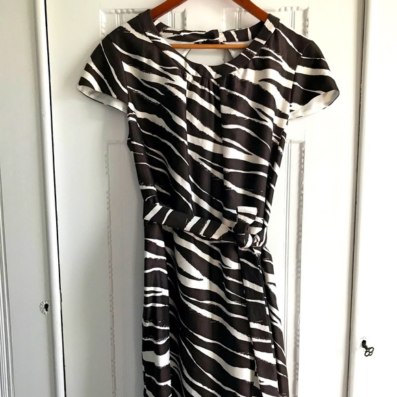 Kate Spade Tiger Print Belted Shift Dress
